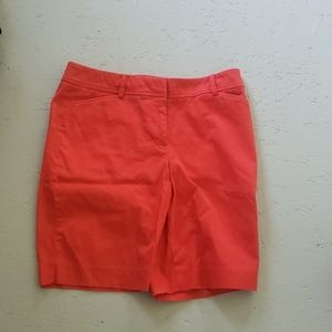 Red-orange shorts